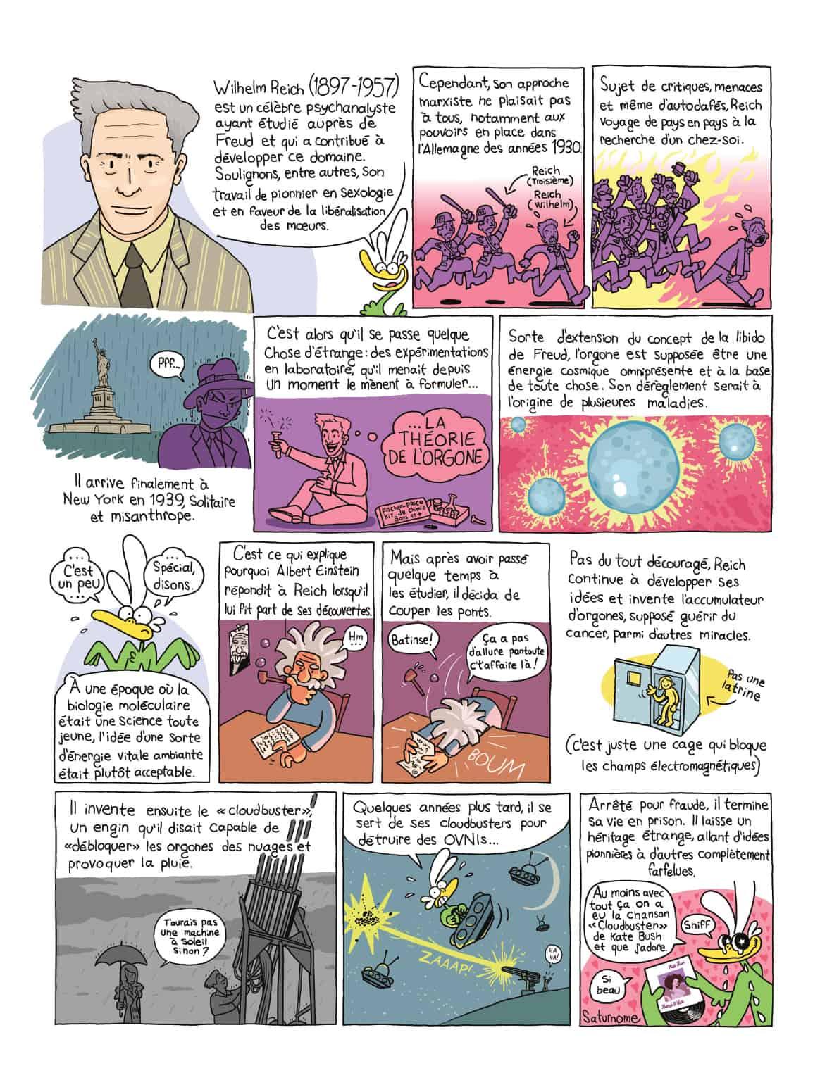 Bande dessinée de Saturnome, Québec Science, juillet-août 2017